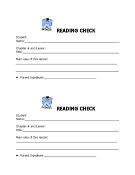 Reading Check Sheet