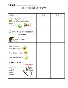 Reading Checklist for students