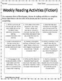 Reading Choice Activity Board