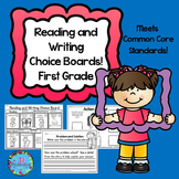 Reading Choice Board! First Grade Back to School Packets Print Only