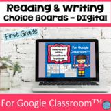 Reading Choice Board First Grade For Google Classroom™ ESL Activity Choice Board