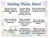 Reading Choice Board Gr. K-2 fiction