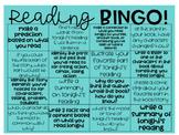 Reading Bingo (Homework Choice Board)