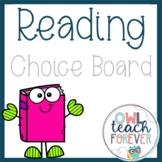 3rd Grade Reading Choice Boards - Literary Standards