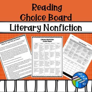 Reading Choice Board - Literary Nonfiction
