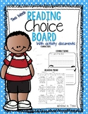 Reading Choice Board- Two Weeks