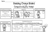 Reading Choice Board - Works with Daily 5!