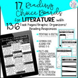 Distance Learning Reading Choice Boards for Literature   G
