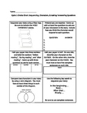 Reading Choice Chart: Characters, Sequencing, & Questioning