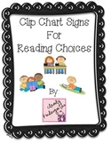 Reading Choices Clip Chart