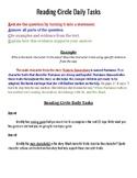 Reading Circle Daily Tasks