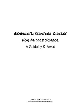 Reading Circles for Middle School: Teacher Guide & Handouts