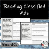Reading Classified Ads