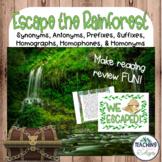 Reading Classroom Escape Room: Escape the Rainforest