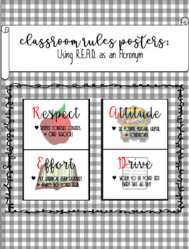 Reading Classroom Rules Posters