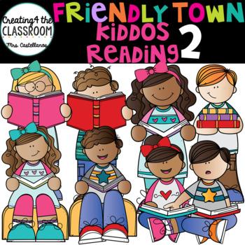 Reading Clip Art {Kids Reading}