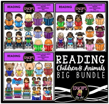 Reading Clip Art Mega Bundle