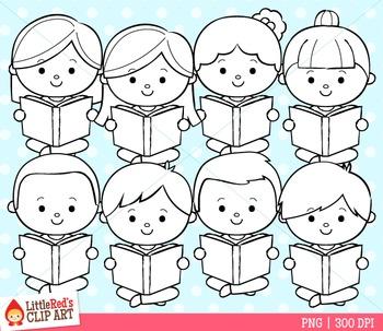 Reading Clipart - Book Clip Art