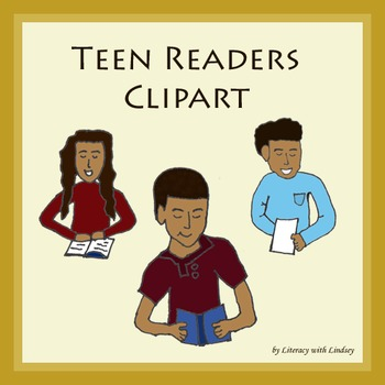 Reading Clipart - Teen Readers