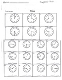 Reading Clocks Worksheet (analog time elementary)