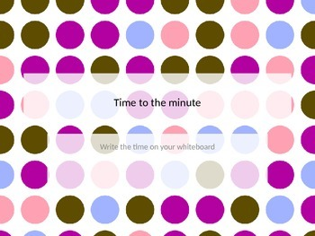 Reading Clocks - time to the minute