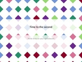 Reading Clocks - time to the second