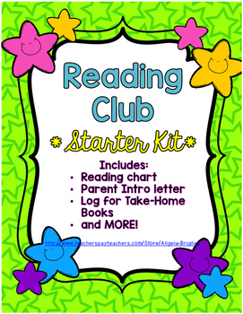 Reading Club Starter Kit {Reading Log, Star Chart, Parent Letter, and MORE!}