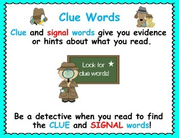 Reading Clue Words
