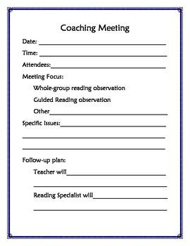 Reading Coach Agenda