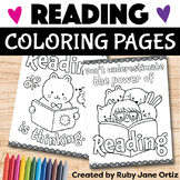 Reading Coloring Pages
