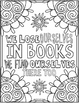 Reading Coloring Pages - 8 Fun Doodle Designs!