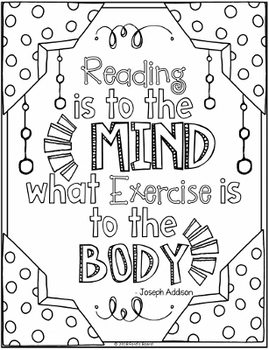 Reading Coloring Pages | 8 Fun Doodle Designs