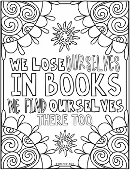 Reading Coloring Pages 8 Fun Doodle Designs By Ford S