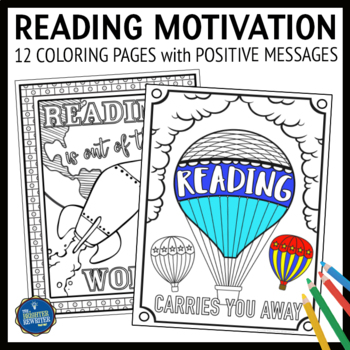 Reading Coloring Pages and Bookmarks