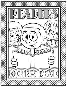 Reading Coloring Pages By The Brighter Rewriter Tpt