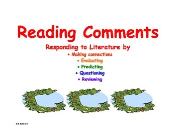 Reading Comments - Responding to Literature