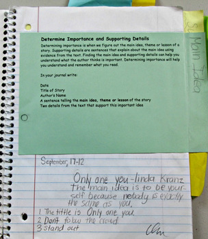 Reading Common Core Response Stems for Student Journals - 5th Grade - Full Year