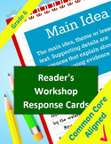 Reading Common Core Response Stems for Student Journals - 6th Grade - Full Year