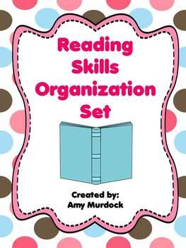 Reading Common Core Skills Organization Set- (Binder Covers)