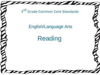 Reading Common Core Standards
