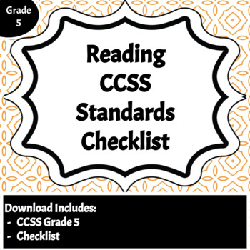 Reading Common Core Standards Checklist