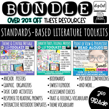 3rd Grade Reading Literature Common Core BUNDLE RL3.2, RL3