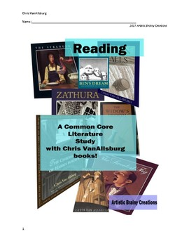 Reading Common Core with Chris VanAllsburg Books, Workbook