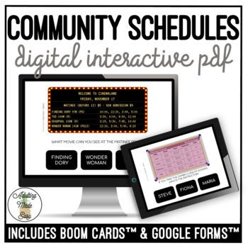 Reading Community Schedules Digital Activity