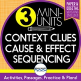 Reading Skills Bundle - Cause & Effect, Context Clues, Sequencing (Google Docs)