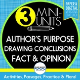 Reading Skills - Conclusions, Facts & Opinions, Author's Purpose (Google Option)