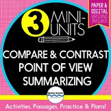 Reading Skills Compare and Contrast, Summarizing, POV (Paper and Digital)