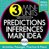 Reading Comp. Skills - Mini-Unit Bundle - Main Idea, Inferences, Predicting
