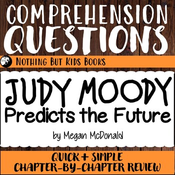 Reading Comprehension Questions for Judy Moody #4