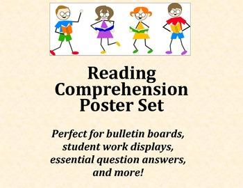 Reading Comprehension Poster Set - Intermediate Elementary School Grades